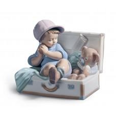 """Lladro статуэтка """"Мальчик в чемодане"""""""