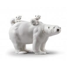 "Lladro статуэтка ""Медведица медвежатами"""