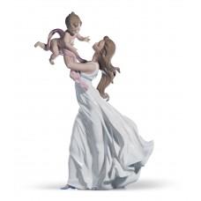 "Lladro статуэтка ""Мама с младенцем"""