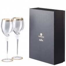 """VERSACE  medusa d""""Or фужеры для красного вина 480 мл.,в подарочной коробке."""