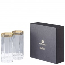 """VERSACE medusa D""""Or стакан  для воды 250 мл., в подарочной коробке."""