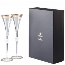 """VERSACE medusa D"""" Or фужеры для шампанского 200 мл., в подарочной коробке"""