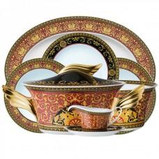 Versace Medusa  Столовый сервиз на 6 персон. Фарфор, в подарочной коробке.