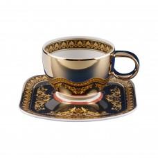 Versace Medusa. Золотая кофейная пара, 90 мл., фарфор.