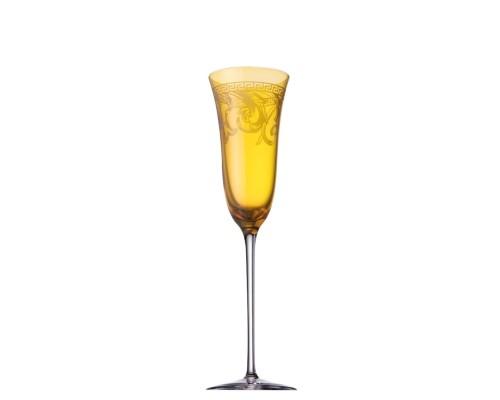 """VERSACE Фужер для шампанского """"цветной""""Арабески 200мл"""