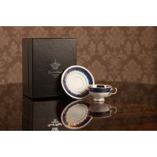 Чайная пара Национальные традиции синий кобальт